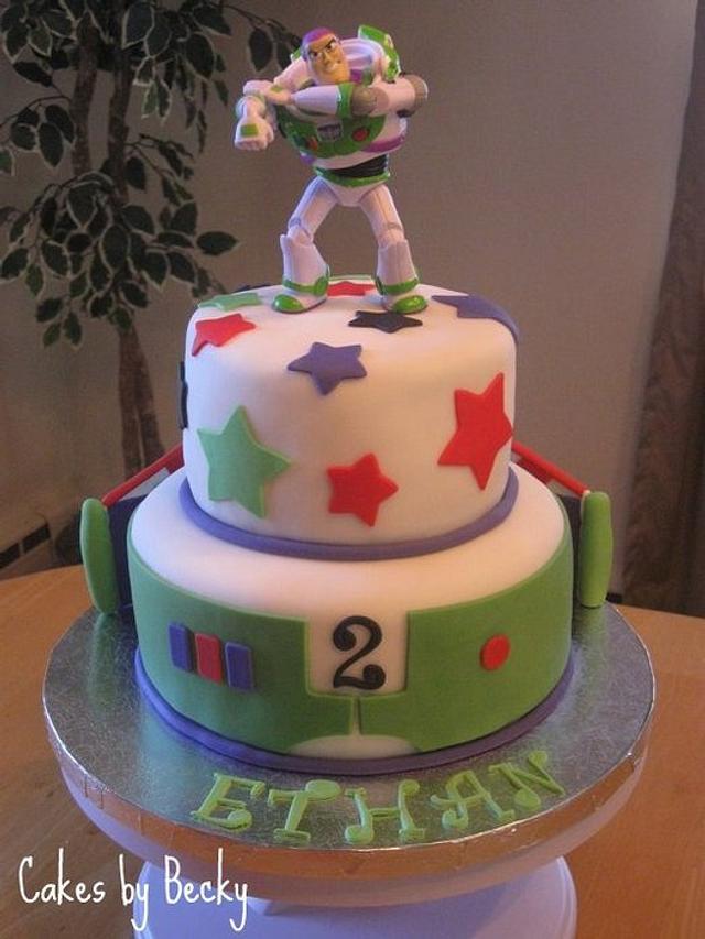 Super Buzz Lightyear Birthday Cake Cake By Becky Pendergraft Cakesdecor Funny Birthday Cards Online Inifodamsfinfo