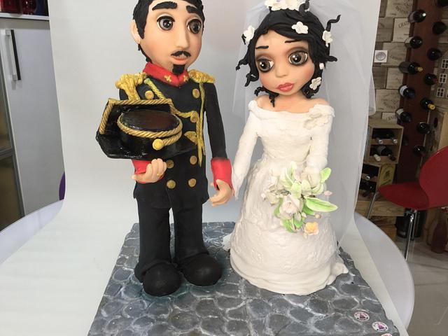 Wedding cakes dolls