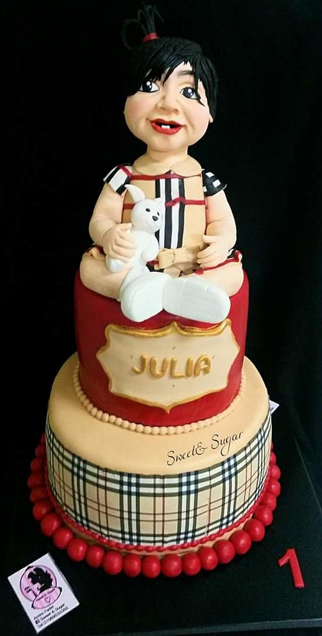 Girly Burberry Cake