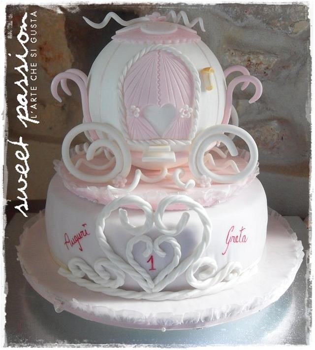 Admirable Princess Cake For Gretas 1St Birthday Cake By Cakesdecor Funny Birthday Cards Online Alyptdamsfinfo