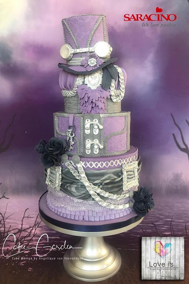 Collab: Love is....  (like a steampunk wedding cake)