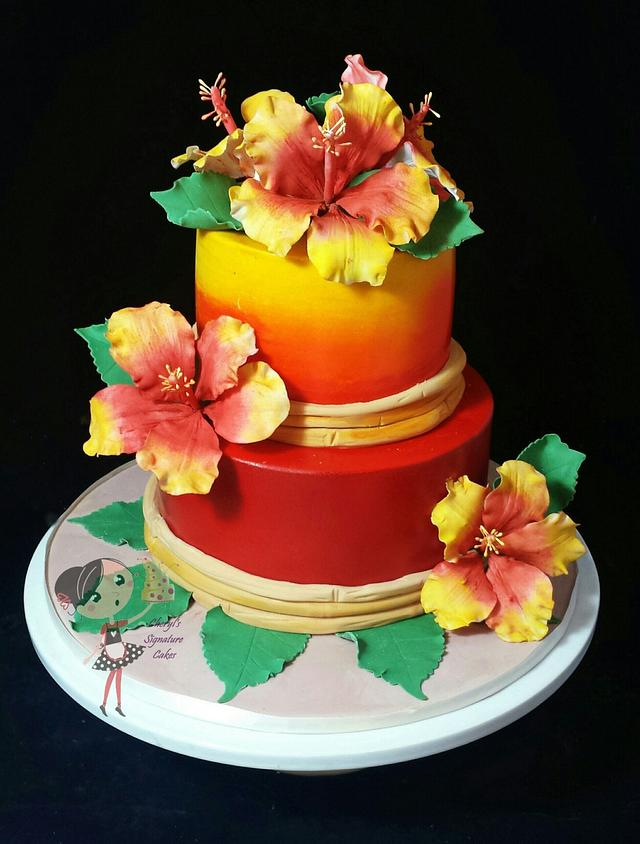 Prime Hawaiian Themed 21St Birthday Cake Cake By Cheryls Cakesdecor Personalised Birthday Cards Epsylily Jamesorg