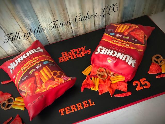 Munchies snack bag cake