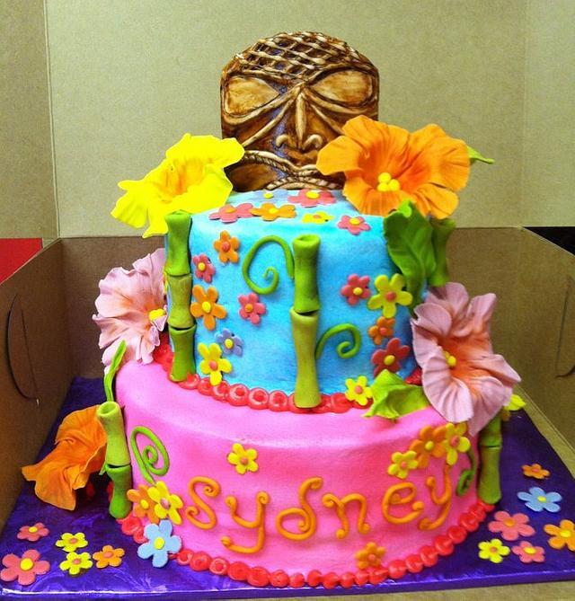 Brilliant Tiki Party Birthday Cake Cake By Susan Armstrong Cakesdecor Funny Birthday Cards Online Elaedamsfinfo