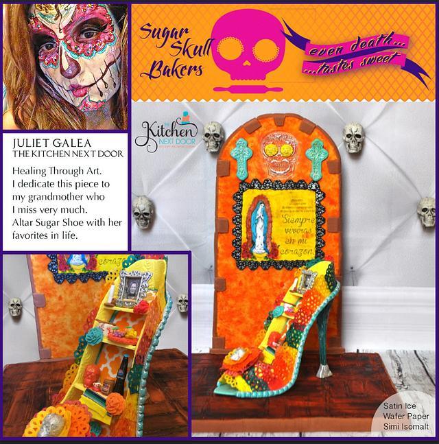 Sugar Shoe to Die For!  Sugar Shoe Altar for Dia de los muertos.