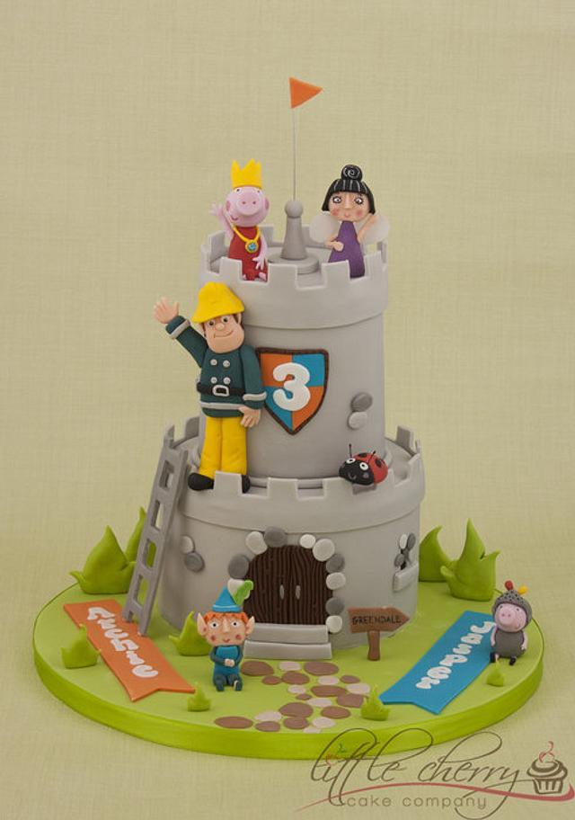 Cartoon Castle Cake