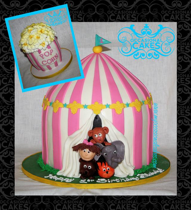 Amazing Big Top Birthday Cake By Occasional Cakes Cakesdecor Birthday Cards Printable Benkemecafe Filternl