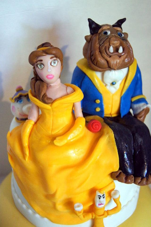 beauty and the beast cake