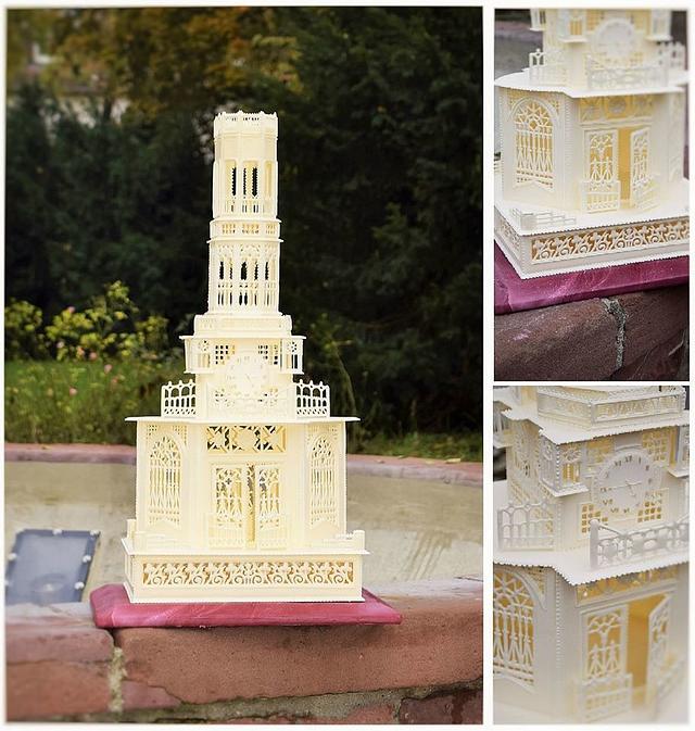 Royal icing mantel cathedral clock