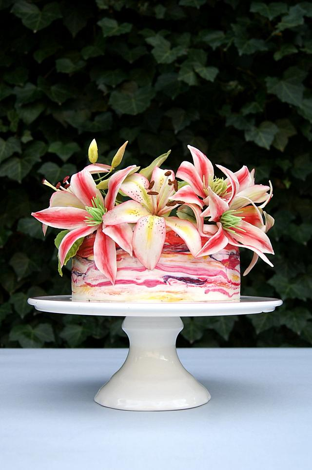 Very colorful cake
