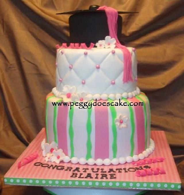 Pastel Graduation Cake