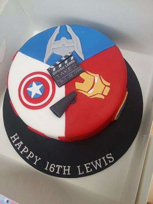 Fine Marvel Cake Iron Man Captain America Thor Cake By Cakesdecor Personalised Birthday Cards Paralily Jamesorg