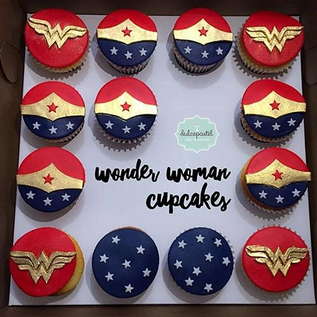 Wonder Woman Cupcakes Mujer Maravilla