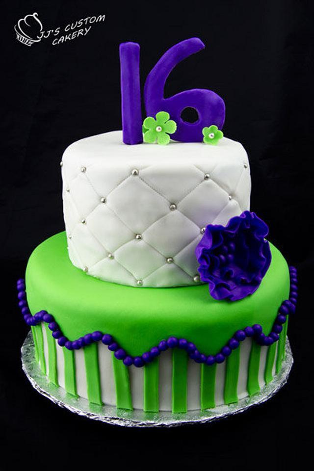 Stupendous Sixteenth Birthday Cake Cake By Jenn Cakesdecor Personalised Birthday Cards Epsylily Jamesorg