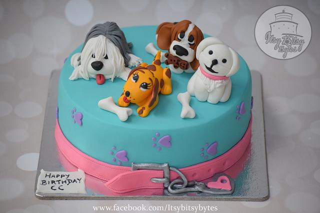 Astonishing A Birthday Cake For A Dog Lover Cake By Divya Haldipur Cakesdecor Funny Birthday Cards Online Alyptdamsfinfo