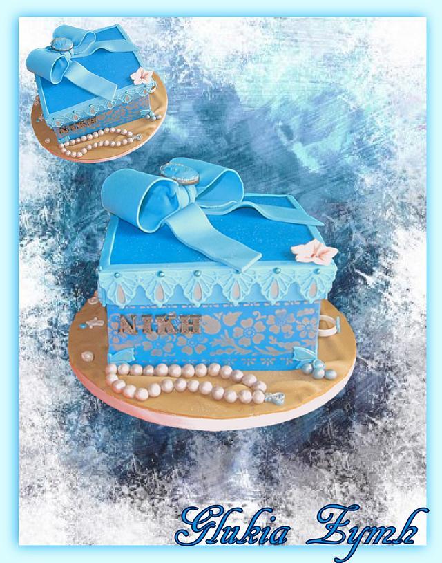 Little Blue Box Cake