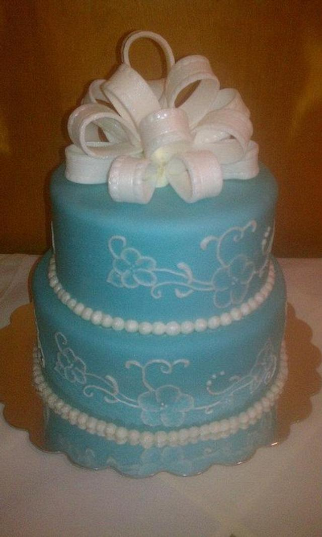 Wedgwood Themed Birthday Cake