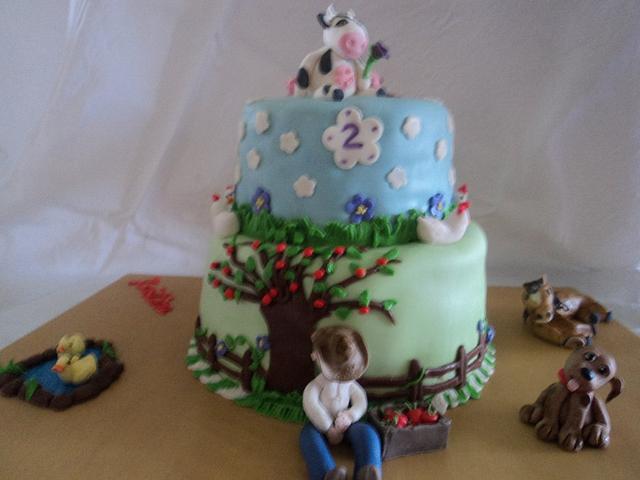 Kristina's Animal Birthday Cake