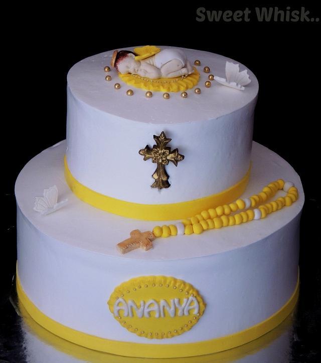 Baptism Whipped Cream Cake