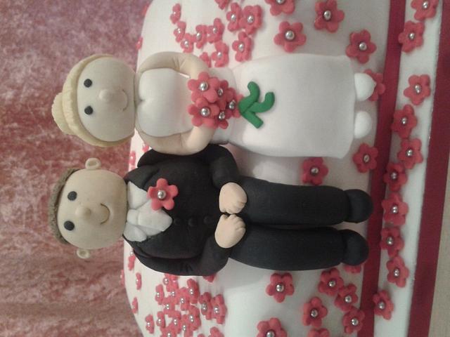 single wedding cake
