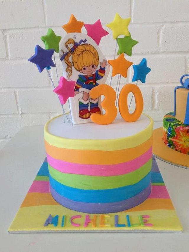Remarkable Rainbow Brite Cake By Kathy Cope Cakesdecor Birthday Cards Printable Nowaargucafe Filternl