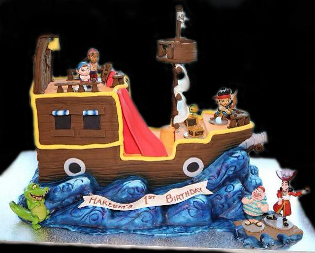 Jake and the Neverland Pirates Buckey Cake