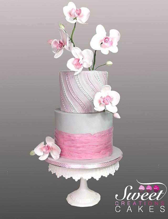 Pink Orchids cake