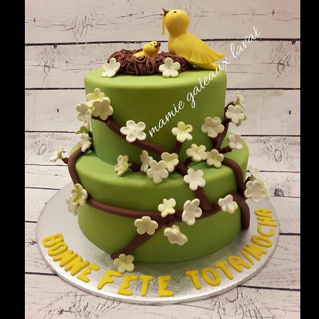 yellow bird cake