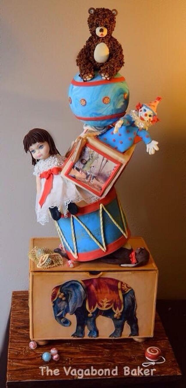 Vintage Toys in the Attic Cake
