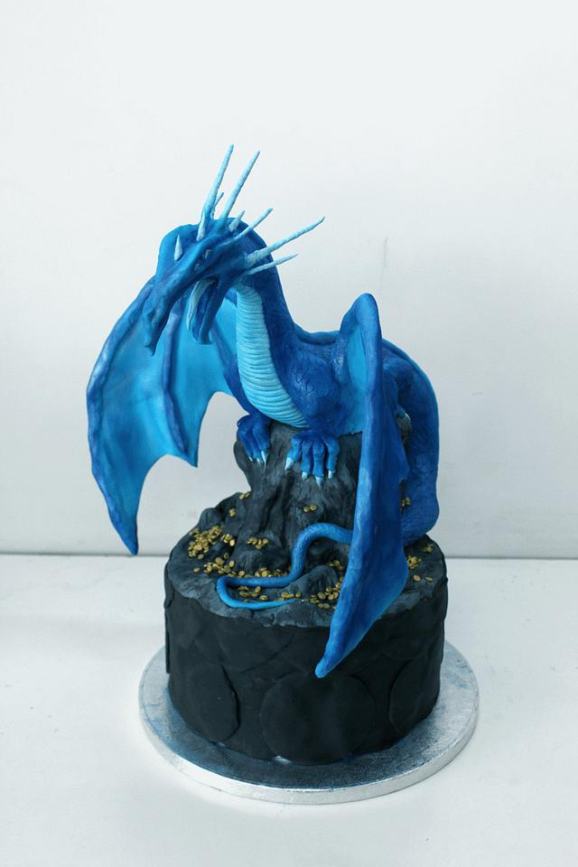 Water & Ice dragon versus Mossy Earth dragon