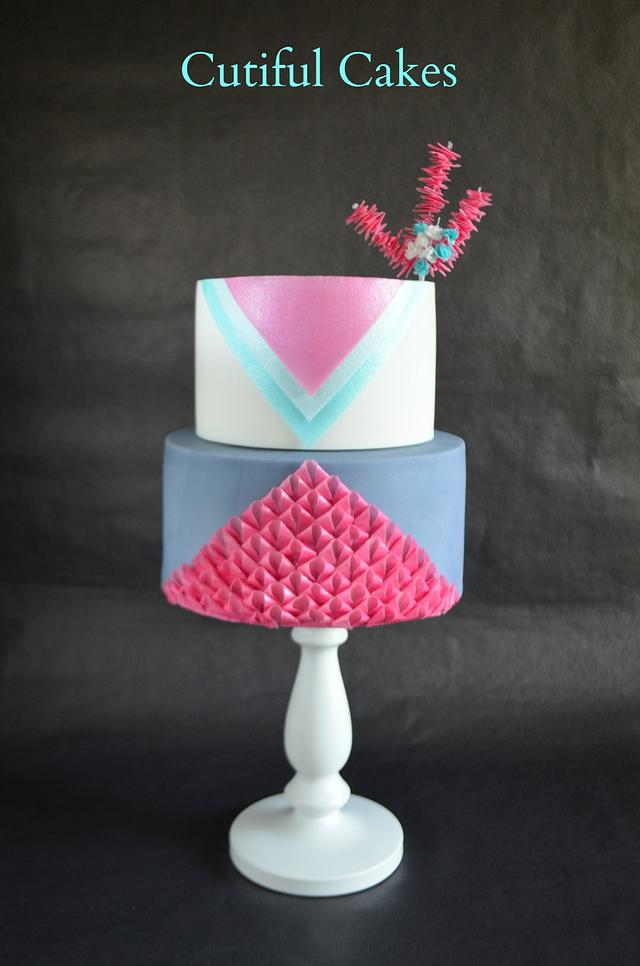 Wafer Paper Loops Cake