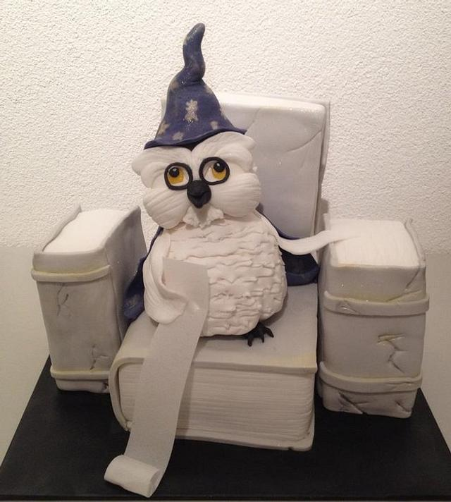 Potter Owl with books