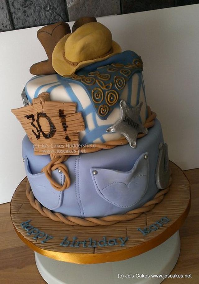 Sensational Western Themed Birthday Cake Cake By Jos Cakes Cakesdecor Funny Birthday Cards Online Alyptdamsfinfo