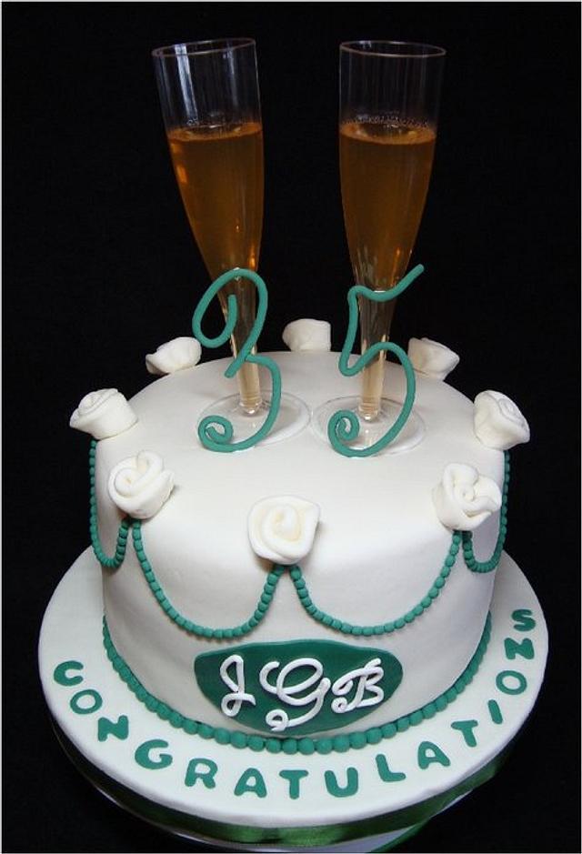 35th Wedding Anniversary Cake