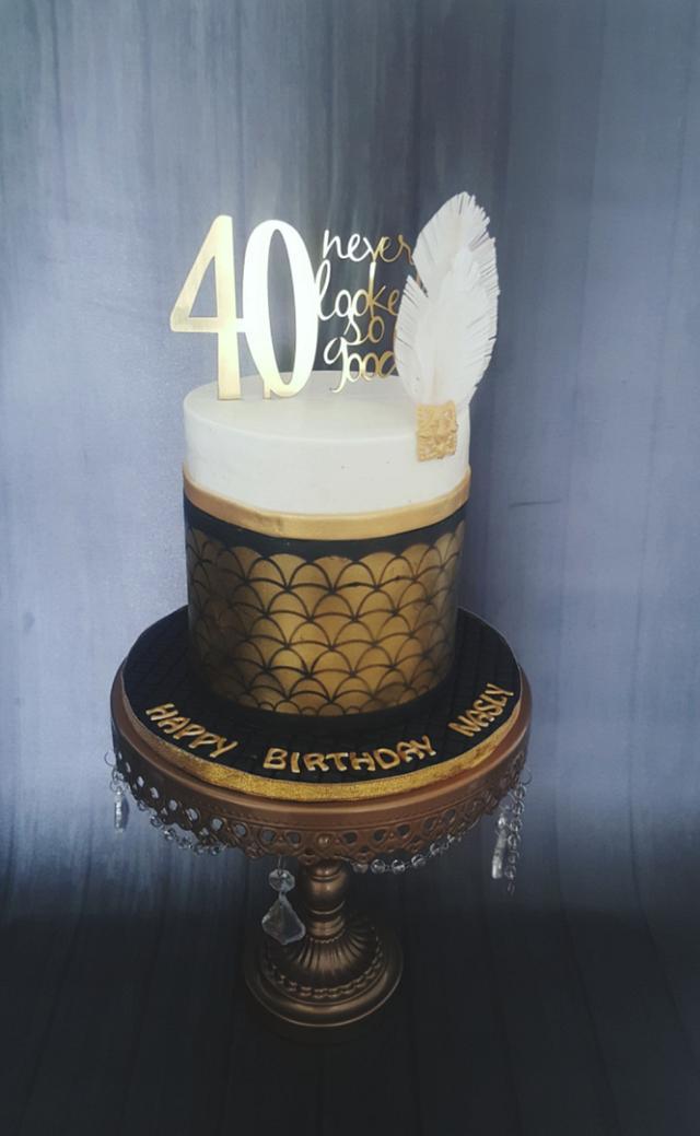 Gatsby/ Art Deco Cake
