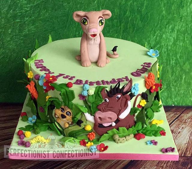Olivia - Lion King Birthday Cake