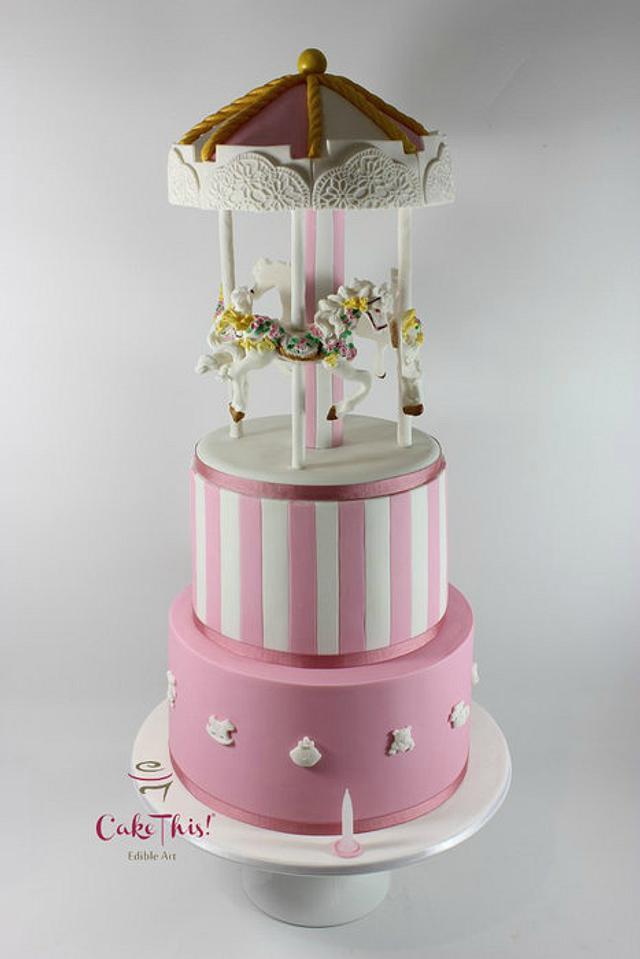 Admirable Carousel Birthday Cake Cake By Cake This Cakesdecor Personalised Birthday Cards Akebfashionlily Jamesorg