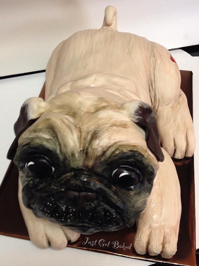 Life size pug puppy cake!