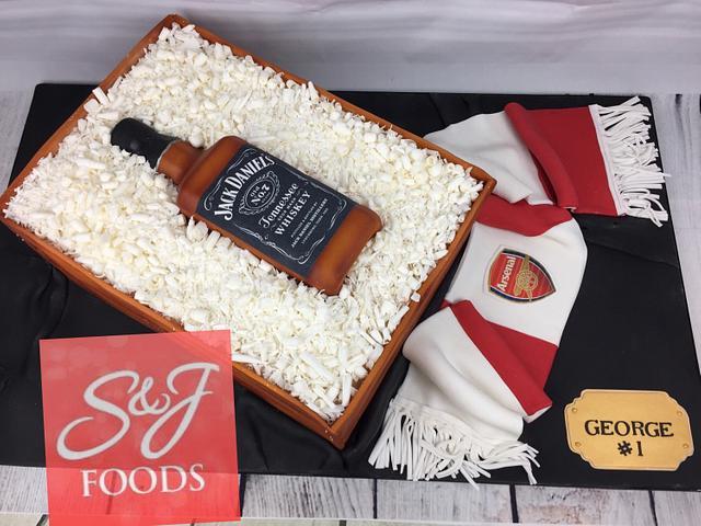 Jack Daniel's & Arsenal Cake