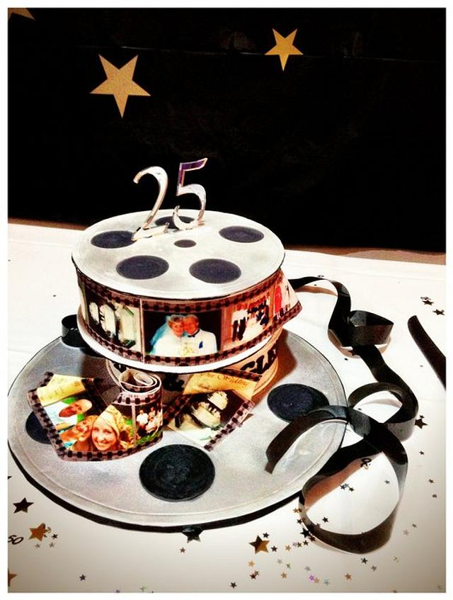 25th Wedding Anniversary Cake - Hollywood theme
