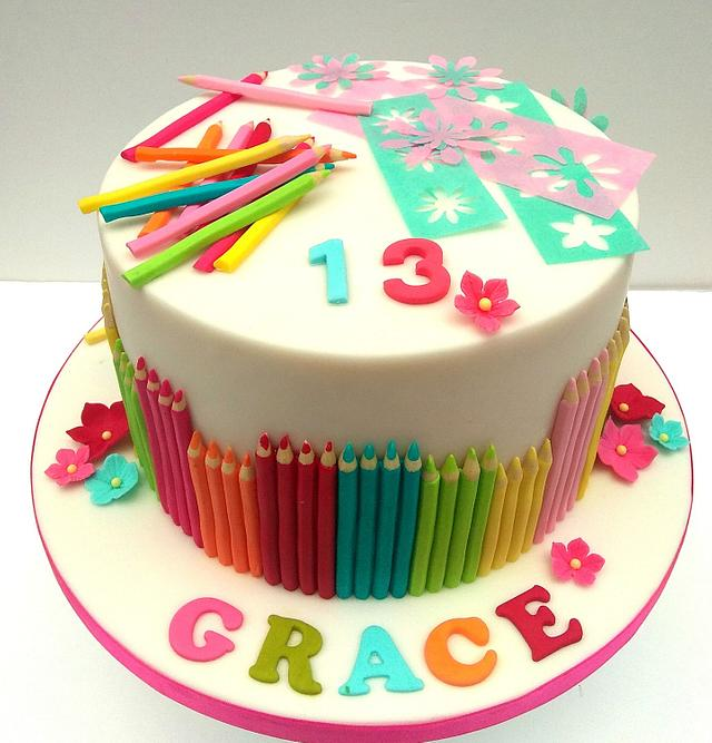 13th Birthday Cake Craft and Arts Lover
