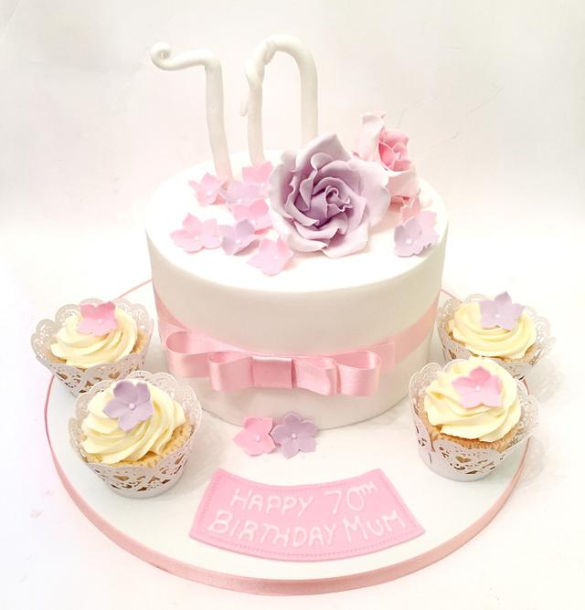 Sensational Pretty Birthday Cake Cake By Claire Lawrence Cakesdecor Personalised Birthday Cards Veneteletsinfo