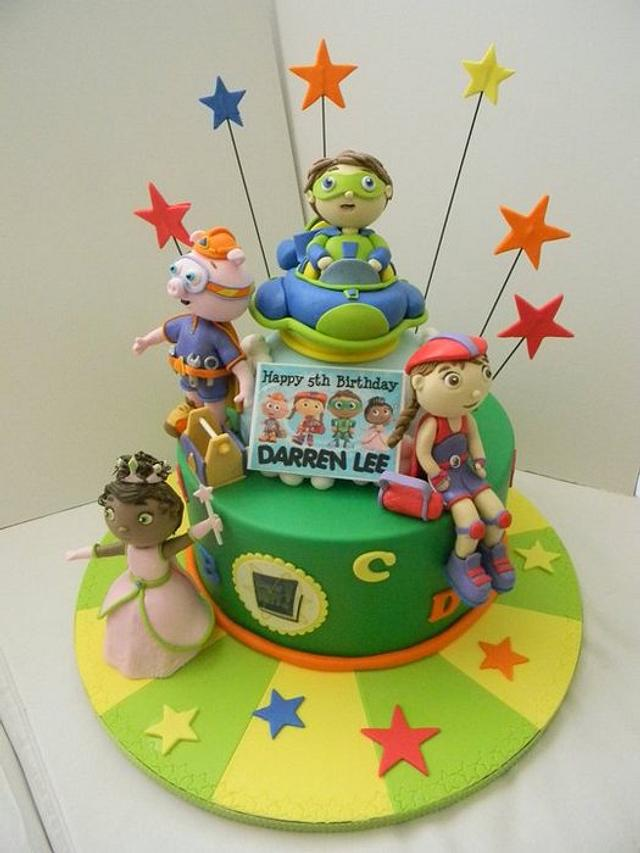 Prime Super Why Cake By Ester Siswadi Cakesdecor Funny Birthday Cards Online Elaedamsfinfo