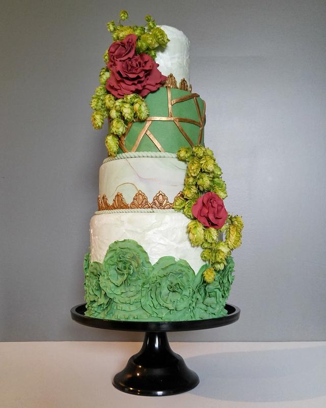 Rustic Boho Wedding Cake
