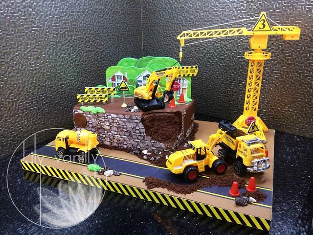 Terrific Under Construction Birthday Cake Cake By Lily Vanilly Cakesdecor Funny Birthday Cards Online Fluifree Goldxyz