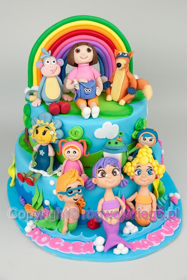 Nick Jr. Cake / Tort z postaciami z kanału dla dzieci Nick Jr.