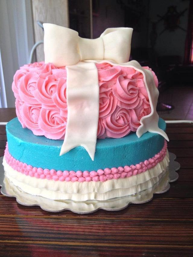 vintage/glam butter cream birthday cake
