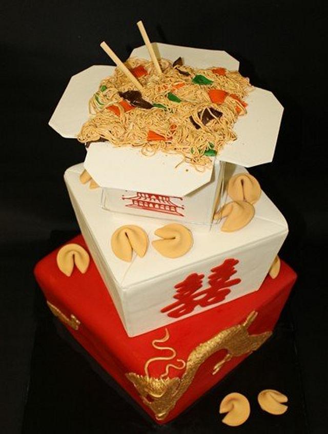 Chinese Take-out Wedding cake