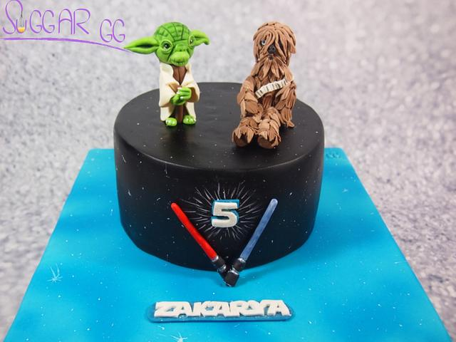 Yoda & Chewbaka Cake