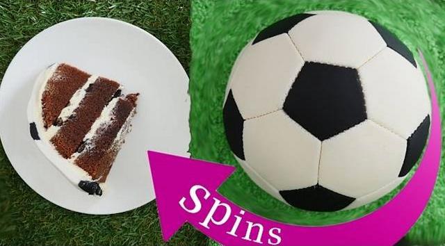 Spinning Soccer Ball (Football) Cake